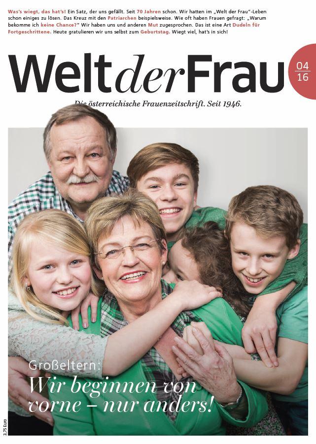 Welt der Frau, die österreichische Frauenzeitschrift, Cover April 2016
