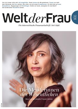 Welt der Frau, die österreichische Frauenzeitschrift, Dezember 2016