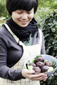 Fleischbällchen mit Pak Choi gab es von Liu Yi.