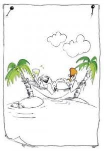 Illustration einsame Insel