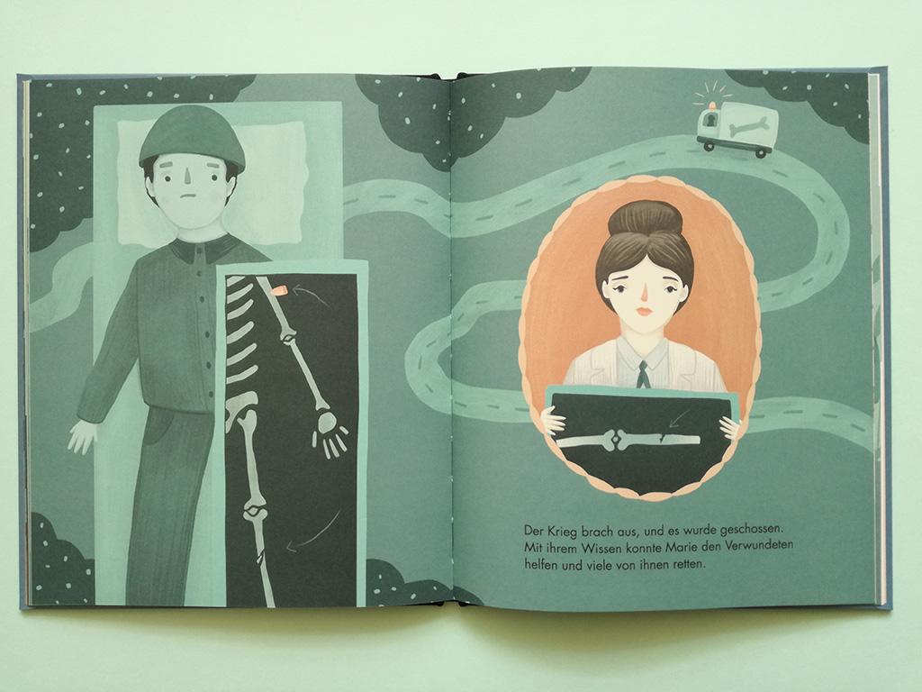 Kinderbuch Marie Curie Röntgen