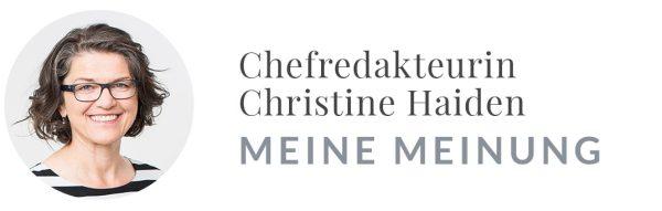 Christine Haiden: Meine Meinugn