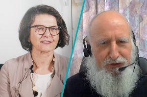 Christine Haiden und Pater Anselm Grün