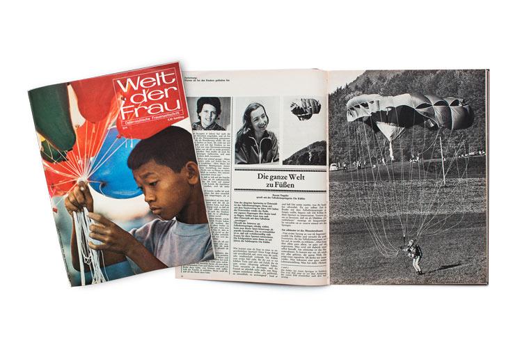 Fallschirmspringerin Ute Kübler