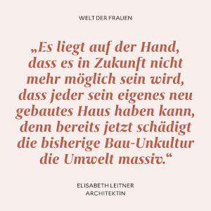 Zitat Elisabeth Leitner