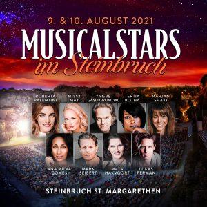 Poster für die Musicalstars im Steinbruch am 9. August 2021