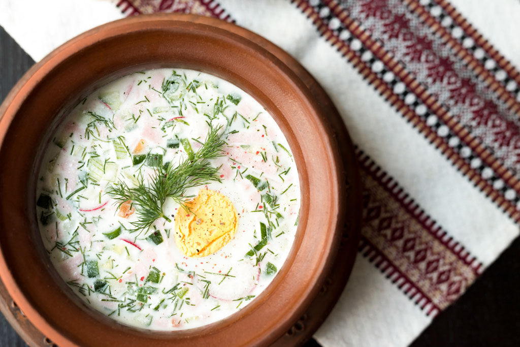 Okroschka: Rezept für kalte, erfrischende Suppe
