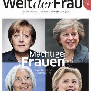 Welt der Frau, die österreichische Frauenzeitschrift, November 2016
