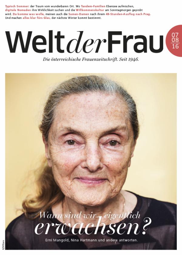 Welt der Frau, die österreichische Frauenzeitschrift, Juli/August 2016
