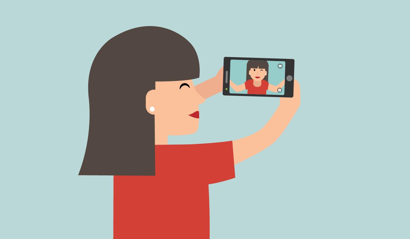 Frau… Wie war doch der Name?  Selfies