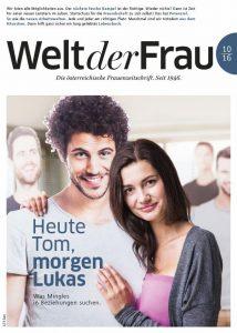 Welt der Frau, die österreichische Frauenzeitschrift, Oktober 2016